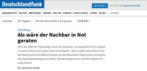 """Reportage """"1 Jahr danach"""" von Alexander Budde"""